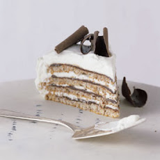 Meringue, Chocolate, and Kirsch Cream Layer Cake