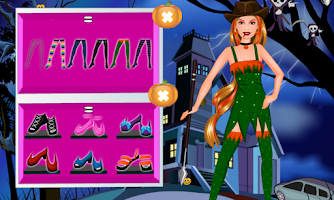 Screenshot of Halloween monster dressup