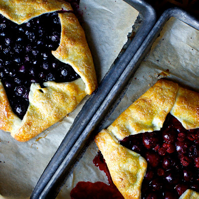 Blue And Red Berry Ricotta Galette