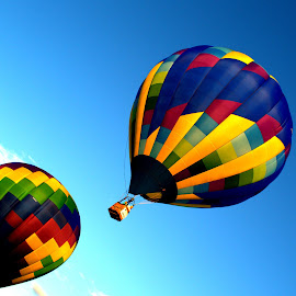 In to the Clouds by DeDe PalmerWells - Transportation Other ( ride, clouds, hot air balloon, flying colors, festival )