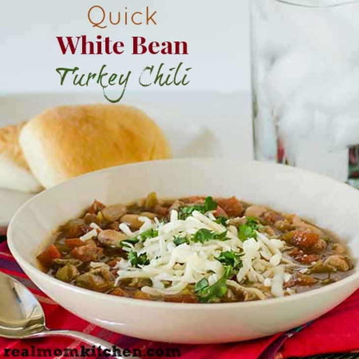 Quick White Bean Turkey Chili Recipe | Yummly