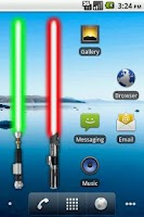 Screenshot of Battery Widget Lightsaber Full