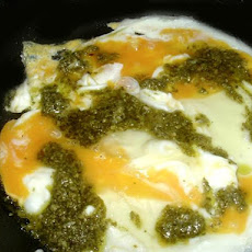 Pesto Rippled Scrambled Eggs