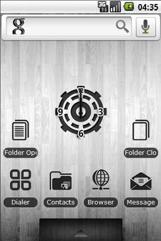Black White Wood Theme Styles