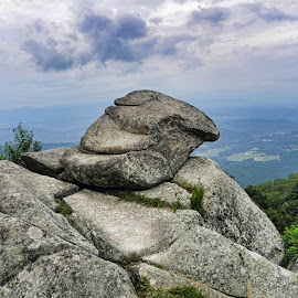 Sharp Top Mountain by Melanie Goins - Landscapes Caves & Formations ( boulders, sky, parkway, formations, high,  )