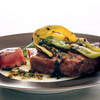 Grilled Tuna and Peppers with Caper Vinaigrette