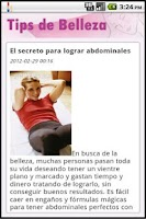 Screenshot of Tips de Belleza