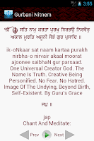 Screenshot of Gurbani Nitnem (with Audio)