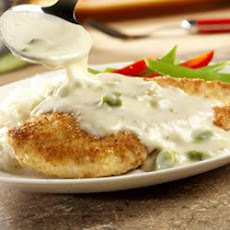 Crispy Chicken with Asparagus Sauce