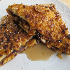 Crunchy Stuffed Nutella and Banana French Toast