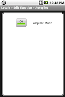Screenshot of Locale Airplane Mode Plug-in