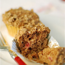 Whole Wheat Cranberry Spice Oat Muffins