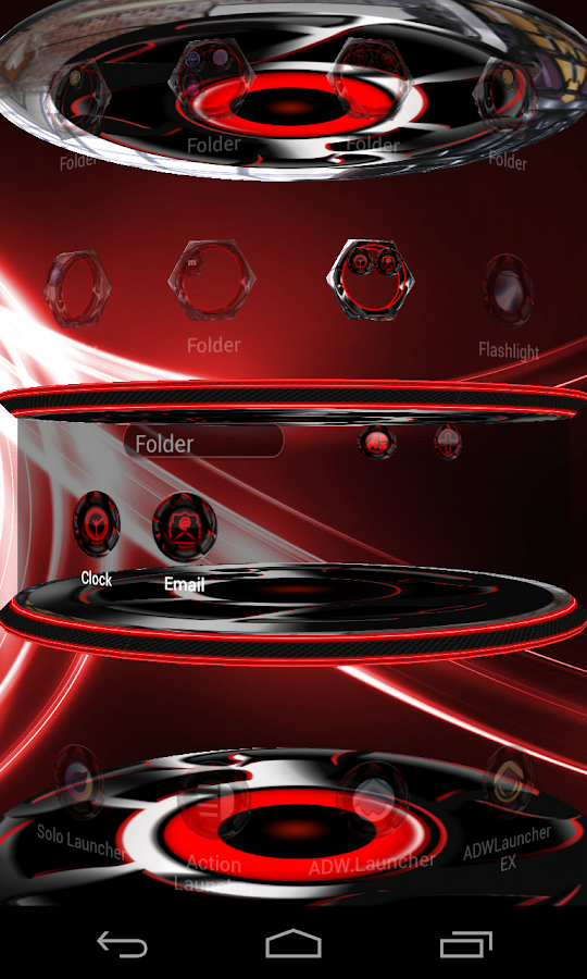 Twister Red Iconpack &for NEXT Screenshot 5