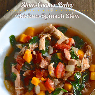 Slow-Cooker Paleo Chicken-Spinach Stew