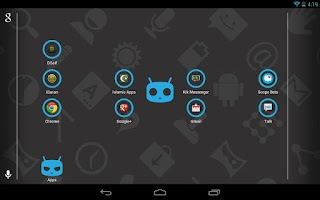 Screenshot of Icon Pack - Cyano Circle