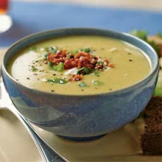 Leek and Lima Bean Soup with Bacon