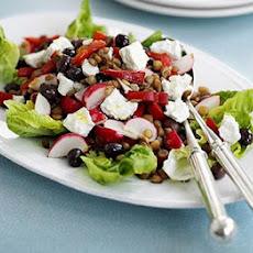 Lentil & Red Pepper Salad