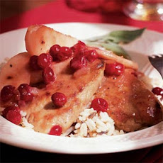 Pork Medallions with Cranberries and Apples