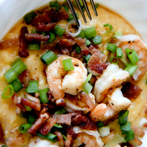 Shrimp and Grits for One