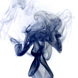 Holy Smoke  by Ramakrishna Nistala - Abstract Patterns ( abstract, edited, smoke photography, low light )