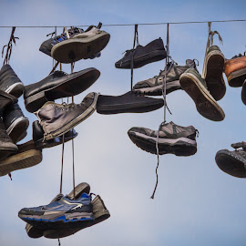 Hanged by Arti Fakts - Artistic Objects Clothing & Accessories ( shoes, hanging, sky, gand, belgium, hang, artifakts, hanged,  )