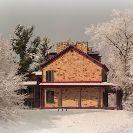 This is the Albert Gallatin House at Friendship Hill... by Michael Hardy - Buildings & Architecture Public & Historical