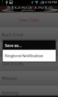 Screenshot of Hunting Calls Free