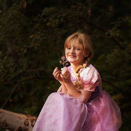 A Princess In The Woods by Kristen Titera Garcia - Babies & Children Child Portraits ( portrait photographers, artistic, child portrait, digital painting, soft,  )