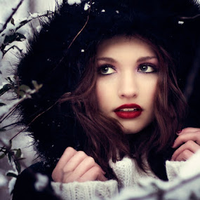 Astray by Meaghan Browning - People Portraits of Women ( girl, female, snow, astray, young )