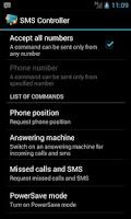Screenshot of SMS Controller Free