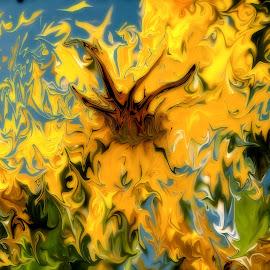 Flower watercolor by Calvin Morgan - Digital Art Abstract ( abstract, digital art, water color, nikon d7000, flower )