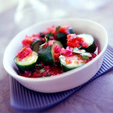 Marinated Courgette and Coriander Salad