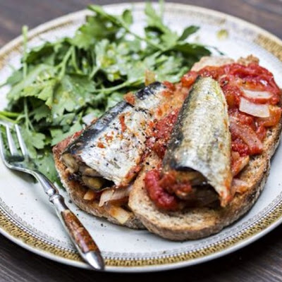 OVEN ROASTED SARDINES ON SOURDOUGH TOAST