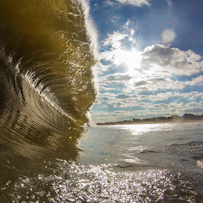 Glassy Bayhead by Dave Nilsen - Landscapes Waterscapes