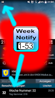 Screenshot of Calender Week Number