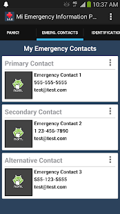 Mi Emergency Information Pro - screenshot