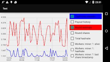 Screenshot of PoolWatch - Mining Monitor