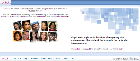 orkut-maintainance