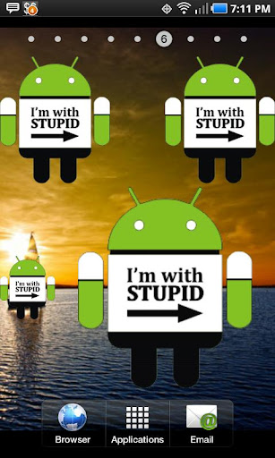 Droid I'm with stupid doo-dad