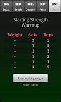 Screenshot of Starting Strength Warmup