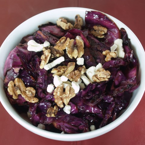 Purple Cabbage With Walnuts And Goat Cheese