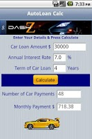 Screenshot of Auto Loan Calc