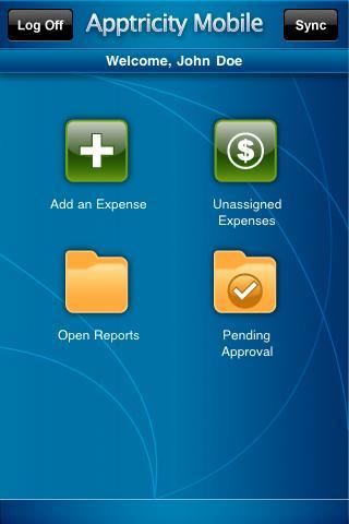 Apptricity Expense Mobile - screenshot