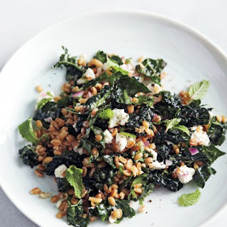 Kale and Farro Salad with Feta