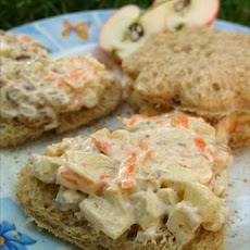 Apple Carrot Finger/Tea Sandwiches