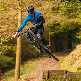 Coffin Jump by Kevin Sloan - Sports & Fitness Cycling ( mountain bike, forest, jump, coffin )
