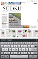 Screenshot of SÜDKURIER
