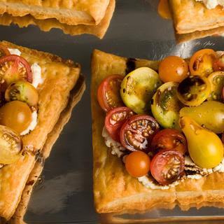 Fresh Tomato and Cheese Puff-Pastry Tart