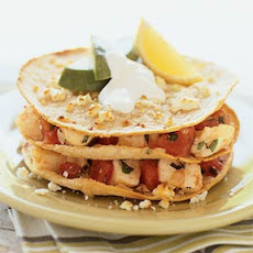 Fish Stacks with Mexican Crema
