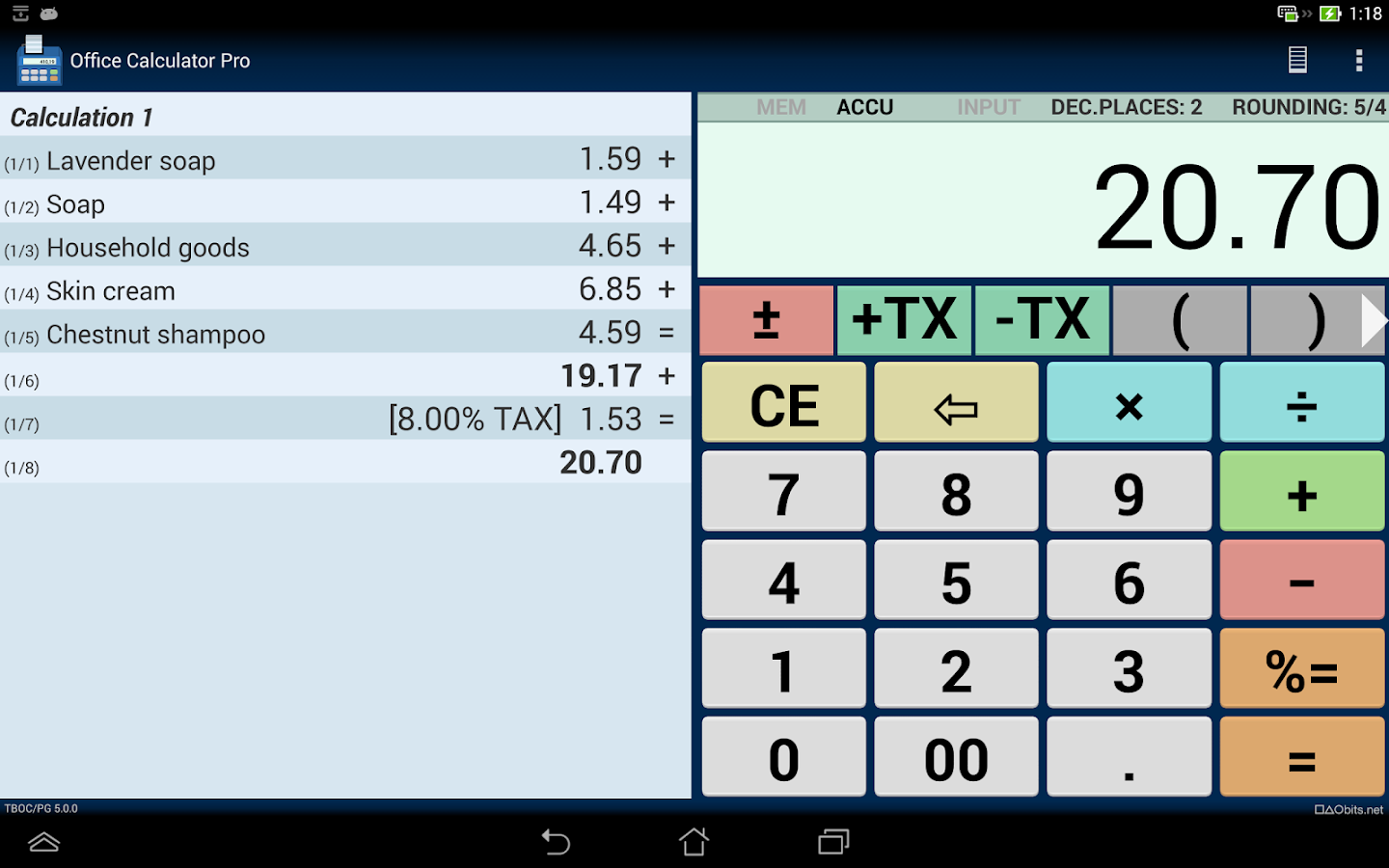 Office Calculator Pro Screenshot 5